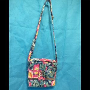 Rampage's Tropical Floral Designed Canvas Cross